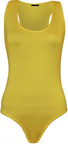 Islander Fashions Canotta - Basic - Senza maniche - donna Yellow