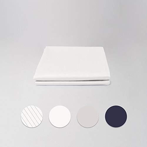 cloudlinen Kissen Set aus 100% Extra-Langstapeliger Premium Baumwolle - 2 * 80x80 cm (Kissen) - weiß einfarbig/unifarben - kuscheliger, Warmer, weicher Satin für besten Schlaf -