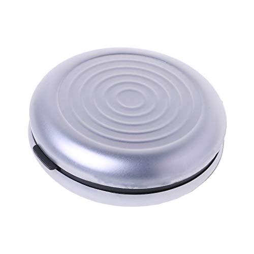 Fuwahahahahahahah Aufbewahrungsbox für Spardose, rund, Münzhalter, Auto, Euro-Münzen-Etui, Auto-Styling, Verstauen von Ordnung silber - Silber-münze Lagerung