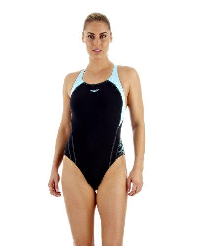 Speedo Damen Badeanzug i2 PowerDive Placement Powerback, navy/blau, 44, 8087398684