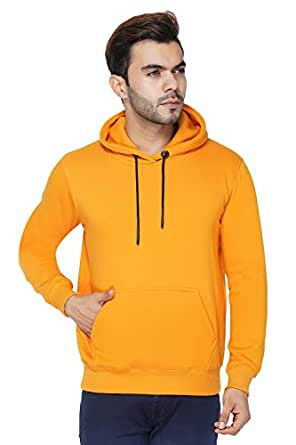 Urban Age Clothing Co. Unisex Cotton Blend Heavyweight Fleece Plain Hoodie with Pouch Pockets Sweatshirt for Winters Temperature 0 Degrees to 25 Degrees
