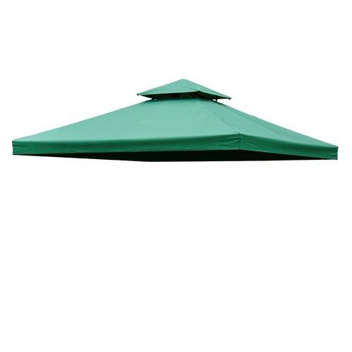 Toile de Rechange pour pavillon tonnelle Tente 3 x 3 m Vert foncé