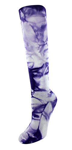Sof Sole All Sport Over-the-Wadenstrümpfe für Damen, 2 Paar, Damen, Neon Purple Tie Dye, Women's 5-10 - Athletic Sole Sof