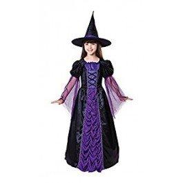 5Prinzessin Hexe Kleid, schwarz/violett, klein, Alter: ca. 3-5Jahren, Prinzessin Hexe schwarz/lila (S) (Lila Hexe Kostüme)