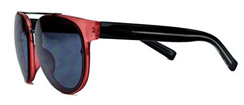 Trend Sonnenbrille Pantobrille mit Metallsteg für Damen und Herren FARBWAHL EY45 (Rot)