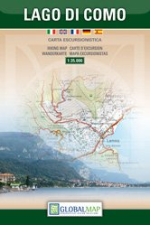 Comer See Wanderkarte 1:35.000; von GlobalMap, Como, Tremezzo, Bellagio, Lago di Como