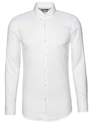 Boss Hemd Herren Jaiden Weiß Slim-Fit mit Cutaway-Kragen und Umschlag-Manschetten 50308164, 45