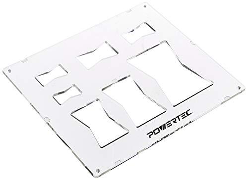 POWERTEC 71356 Schmetterling Schablone für Holzbearbeitung - Inlay Materialien (7 in 1 dekorative Fliege Schablone)