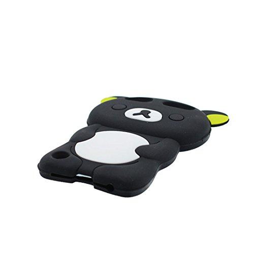iPod Touch 6 Coque, TPU Flexible Durable iPod Touch 6 étui Cover Case [Impact Shock Resistant] + [Génération] ( Compatible avec Apple iPod Touch 6th 3D singe Cartoon Monkey) rouge Noir