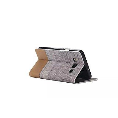 HLY-CASE Gute Leistung Flip Canvas Ledertasche mit Brieftasche Card Slot Inhaber für Samsung Galaxy, Einfach zu bedienen (Farbe : Weiß, Kompatible Modellen : Galaxy A7)