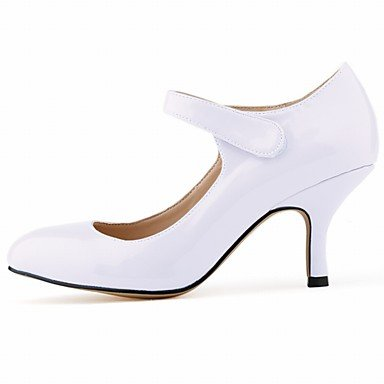 Moda Donna Sandali Sexy donna tacchi Primavera / Autunno tacchi / Comfort / Round Toe in pelle di brevetto Office & Carriera / abito / Casual Stiletto Heel Blue