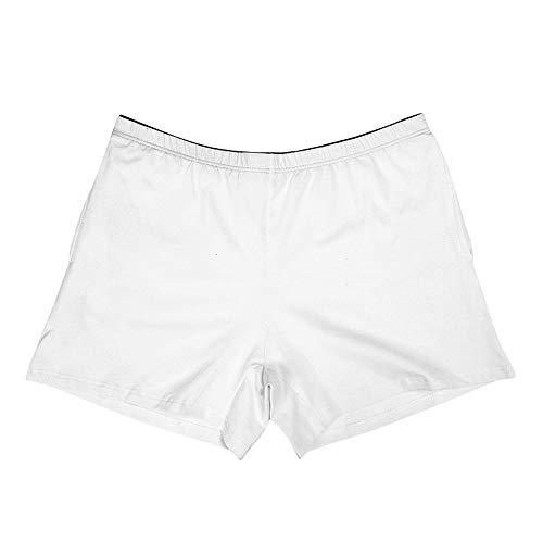 JMETRIC Herren Baumwolle Einfarbig Shorts Pocket Pants Atmungsaktive Sports Höschen Shorts Briefs Unterwäsche (Weiß,M)