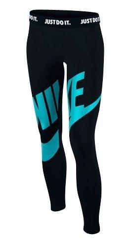 Nike Mädchen Oberbekleidung Leg-A-See Futura Graphic Tights, schwarz, M, 728406-011 Nike Sport Laufen Kurze