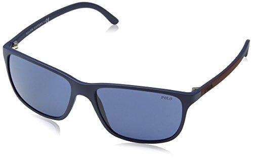 Polo Ralph Lauren Herren PH4092 Sonnenbrille, Blau (Matte Blue 550680), One size (Herstellergröße: 58)