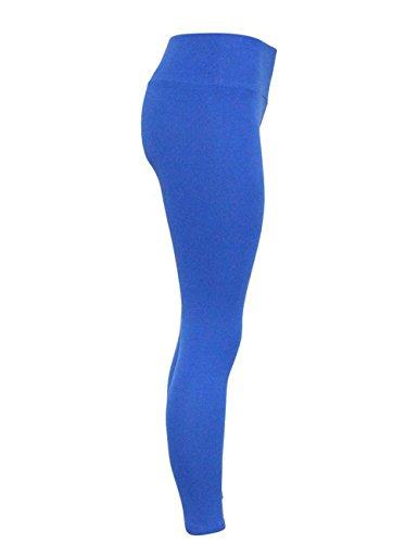 Junshan Femme Noir Leggings Pantalon de Sport Femme Pure Color High taille sport Yoga Fitness Yoga Exercises Aptitude Bleu