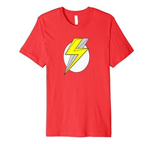 Superheld Lightning Bolt Shield Shirt Herren Damen Jungen
