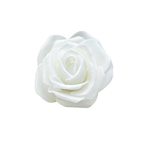 Lot 50pcs Fleurs Mousse Rose Artificielle Tête Mariée Bouquet Décoration