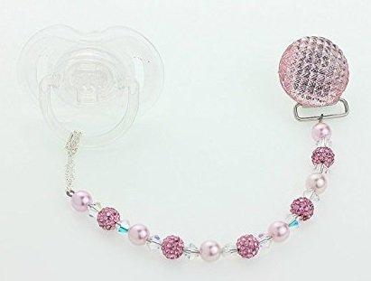 Crystal Dream cristalli Swarovski, con perline e perle (CQS)-Nastro porta ciuccio, con Clip