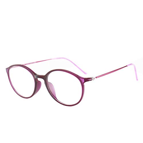 Fusanadarn Unisex-Retro-Brillengestell Mode Brillen Nicht verschreibungspflichtige Brillen für Frauen (Color : Pink)