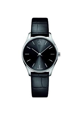 CK K4D221C1 - Reloj de pulsera hombre, piel, color negro de CK