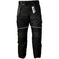 German Wear GW350T Pantalones de Moto, Negro, 50/M