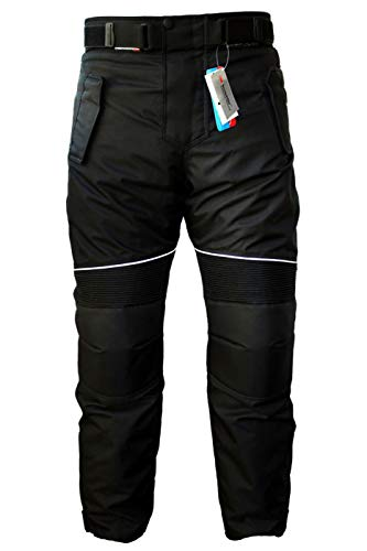 German Wear Pantalones de Moto, Negro, 52/L