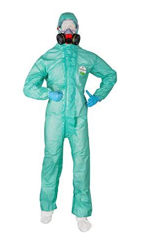 ACE ProTec C.S.A. Set Chemische Schutzausrüstung - Schutzanzug, Schutzbrille, Nitrilhandschuhe & ABEK-Halbmaske - Chemikalienschutzanzug mit Zubehör - Größe L (Kit Und Kat Kostüm)