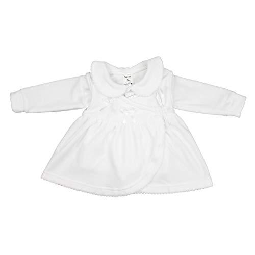TupTam Baby Mädchen Taufkleid Langarm Nicki 2-tlg. Set, Farbe: Weiß, Größe: 80