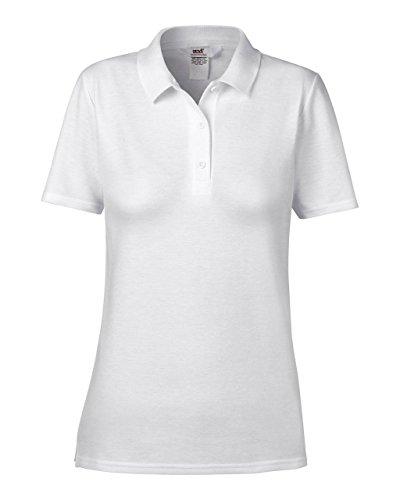 Anvil: Women`s Double Piqué Polo 6280L White