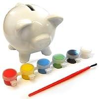 di eBuyGB divertimento e pronto a dipingere la banca piggy è dotata di sei colori e un pennello. Questo fa un grande regalo per i bambini, il luogo perfetto per loro di mantenere i loro soldi e qualcosa di divertente da fare in una giornata p...