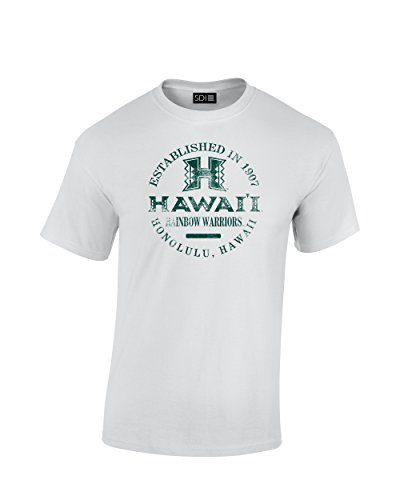Preisvergleich Produktbild NCAA Hawaii Warriors Uni NCAA 100%, kurz Sleeve Rainbow, weiß, Medium