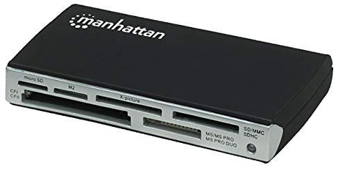 Manhattan 100939 Multi-Card Reader/Writer Hi-Speed USB 2.0 Extern 60-in-1 (Externer Usb Multi Card Reader)