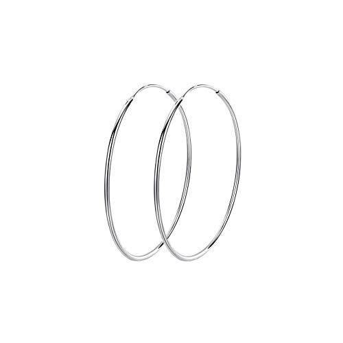 Orecchini a cerchio grandi in argento Sterling 925, da donna, 50 mm