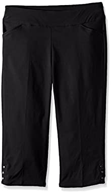 904093d466f Napa Valley Women s Petite Size Super Stretch Pull on Straight Leg Capri  Pant