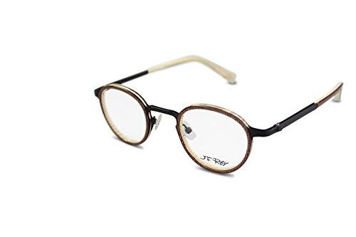 4af533298c3 JF Rey Brille Unisex eyeglasses Rund JF2677 col.9200 Braun Schwarz Beige