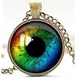 Collar del ojo del Animal, tercer ojo mal de Ojo encanto, colgante globo ocular