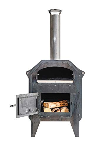 Hikki - Faster Greta - an outdoors pizza oven and fire place made from corten steel. Perfect for making pizza, baking bread & BBQ.