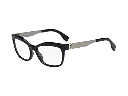 Fendi Brillen Für Frau 0050 KKL, Black / Ruthenium Gestell aus Metall und Kunststoff