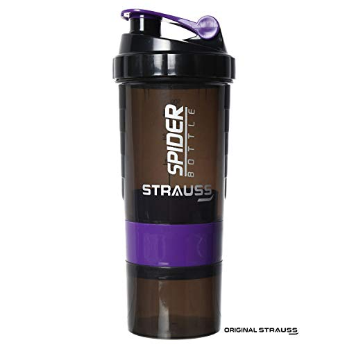 Strauss Spider Shaker Bottle 500ml, (Purple)