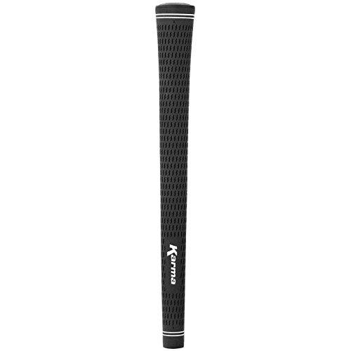 Karma schwarz Velvet jumbo x 6 Golf Griff (sechs Griff) (Karma-golf-griffe)