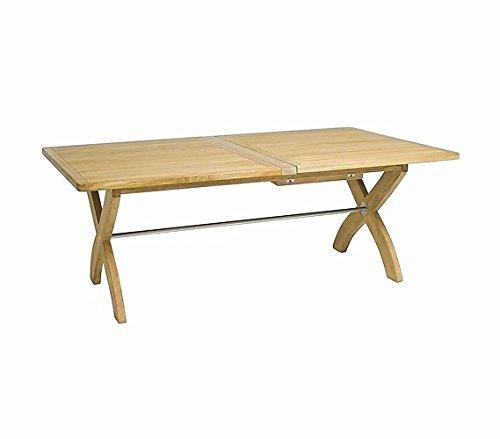 Ploß Outdoor Furniture Table à rallonge, Atlanta, naturel, 119 x 200 x 75 cm, 0,5194 ml, 1044290