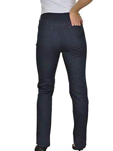 Jeans per Donna, Vita Alta, Tessuto con Lucentezza 42-56 Blu