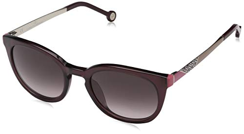 Carolina herrera donna n/a occhiali da sole, trasparente (shiny transparent plum)
