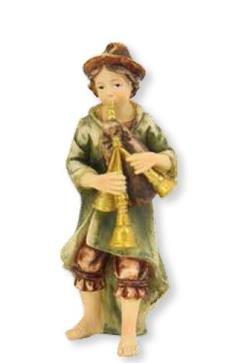 Krippenfiguren Musiker mit Dudelsack geeignet für 10cm Figuren
