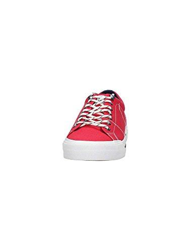 Tommy Hilfiger H2285arlow 2d, Sneaker Bas du Cou Homme Rouge