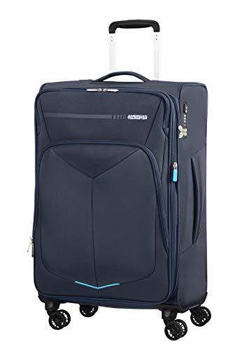 American tourister summerfunk bagaglio a mano, spinner m espandibile (67.5 cm - 77l), blu (navy)