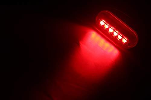 ZONCENG 12 V 6 LED Marine Licht Nacht Unterwasser Landschaftsbeleuchtung für Marine Boot Zubehör Wasserdicht, rot - Lichter Led-unterwasser-boot