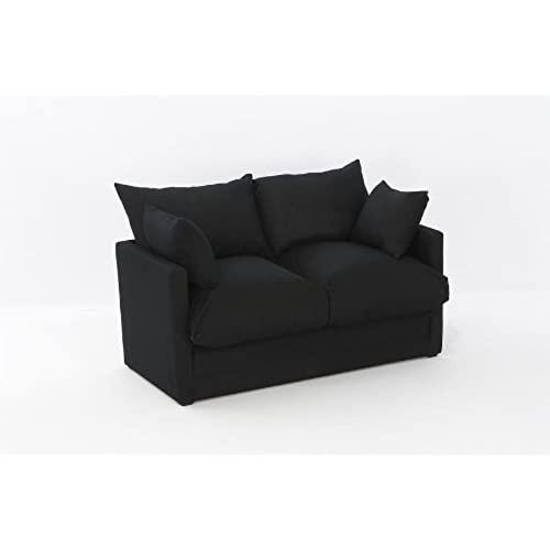 Elegant Leanne Sofa Bed In BLACK Cotton Drill