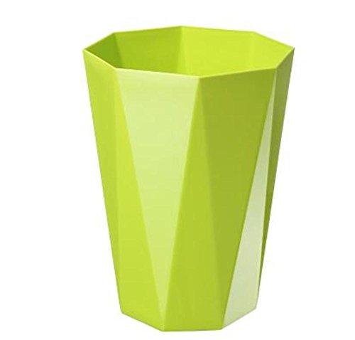 GMM® Papierkorb kann nicht Stopfen-Boxen Mülleimer Haus Bad Küche Schlafzimmer Dosen-Mülleimer Pantry von Büro Papier Körbe Material Kunststoff Größe 23* 30.5cm grün (13 Gallone Küche Mülleimer)