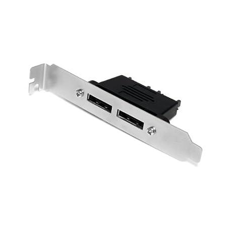 StarTech.Com ESATAPLT2M 2-Port SATA auf eSATA Slotblech Adapter